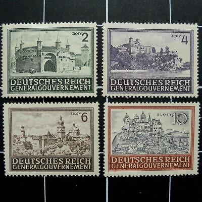 German WW2 stamps-complete set,1943-1944,MH-Germany/Poland/General Gouvernement