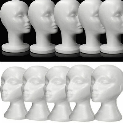 12Pcs Female Styrofoam Mannequin Manikin Foam Head Model Hat Wig Display