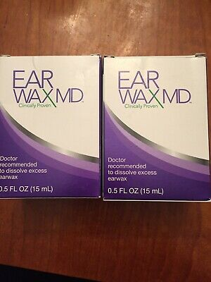 EAR WAX MD DISSOLVE EXCESS EARWAX! Lot Of Two Packages .5 OZ EACH