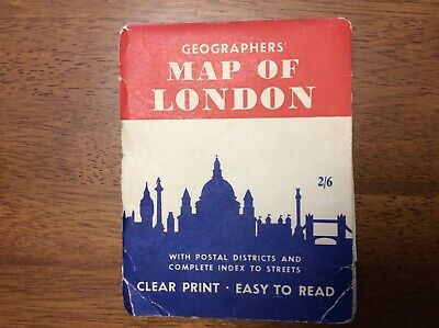 Geographers' Foldout Map Of London England & Central Transport Railway Museums