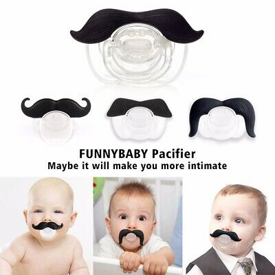 NEW Funny Dummy Dummies Pacifier Novelty Moustache Baby Child Soother Nipple Toy