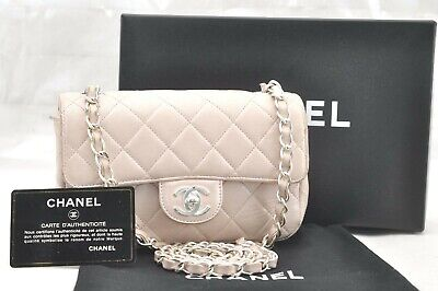 09250090267213 CHANEL PINK QUILTED Lambskin Rectangular Mini Classic Flap Bag ...