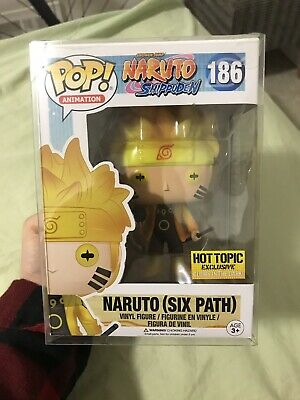 Funko POP! Naruto (Six Path) Hot Topic Exclusive #186 Glow In The Dark w/ protec
