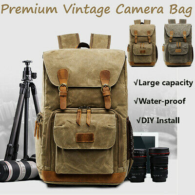 Backpack Rucksack Waterproof Unisex DSLR SLR Camera Travel Laptop Lens Case Bag