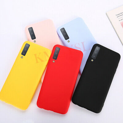 Candy Color Soft Silicon Cover Case For Samsung Galaxy A5 A6 A7 A8 Plus A9 2018