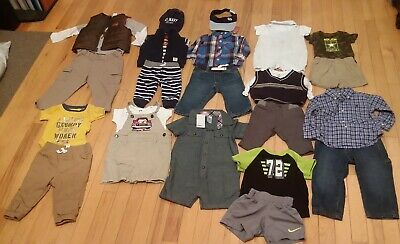 Baby Boy Lot 245 Clothes Shoes Newborn - 24M Some NWT Most EUC Baby Gap Carter's