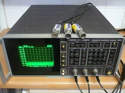 Marconi 6500 Automatic Scalar Network Amplitude Analyzer, working with 3 sensors
