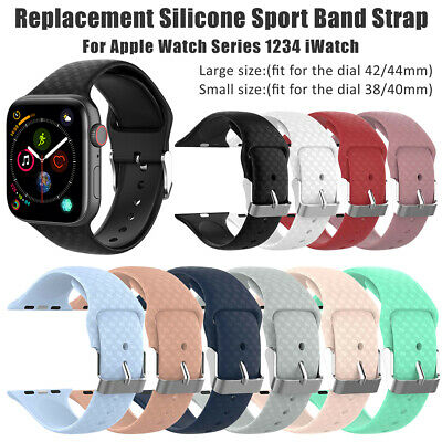 For Apple Watch Series 4/3/2/1 Replacement Silicone Sport Band Strap gf7