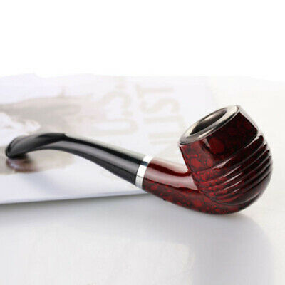 Durable Wooden Enchase Smoking Pipe Cigarettes Filter Pipes Gift New