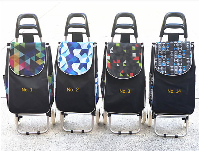 Shopping Trolley Bag Foldable Market Luggage 2 Wheels Collapsible CL2161