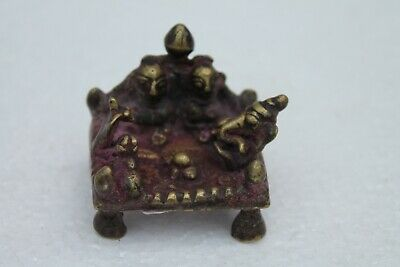 Antique Hindu Traditional Indian Ritual Bronze 'Family Of God Shiva' Rare NH1066