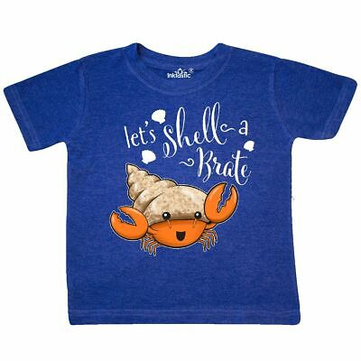 Inktastic Lets Shell-a-Brate- Cute Hermit Crab Toddler T-Shirt Beaches Shells