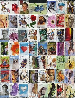 Australian Stamps 165 Different (3 pages)- $1.00, 70c & 60c Used/Bulk