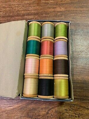 Vintage sewing threads in box by Semco