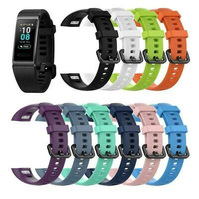 For Huawei Band 3 Pro Watch Replacement Soft Silicone Sport Wrist Band Strap