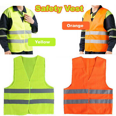 Safety Vest hi vis workwear Reflective Tape Work Jacket High Visibility