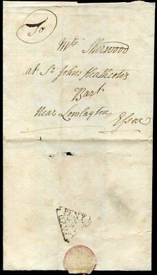 c1740 London Government Southwark DOCKWRA PAYD/PENY/POST S/WE Rarity G