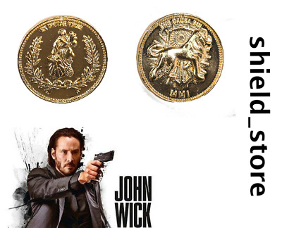 John Wick Gold Coin Cosplay Accessories Movie Costume Prop XCOSER
