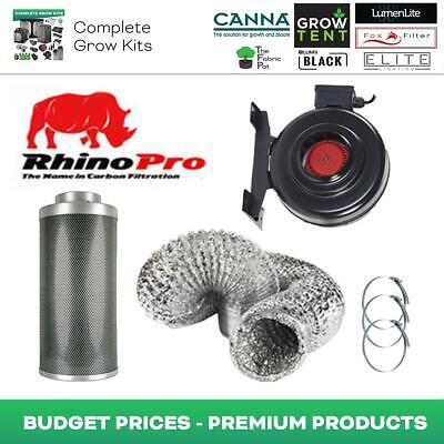 Rhino Pro Fox RVK Carbon Filter Kit 4/5/6/8/10/12 Hydroponics Aluminium Ducting