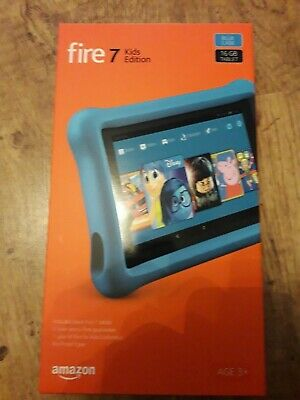 NEW Amazon Fire 7 Kids Edition Tablet - BLUE 7 Inch Screen - 16GB UK Stock