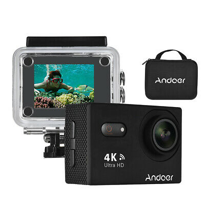 """Andoer HD Wifi 16MP 1080P 30FPS 2.0""""LCD Action Sports Camera Travel Bicycle I0Z9"""