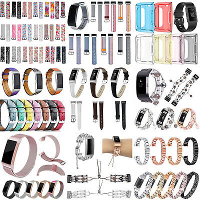 For Fitbit Charge3 Watch Band Replacement Silicone Diamond Bracelet Wrist Straps