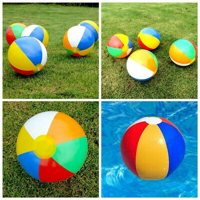 Inflatable Panel Beach Balls Blow Up Holiday Swimming Pool Game Party Toys Ea