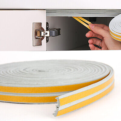 E-Type Draught Excluder Self Adhesive Rubber Door Window Seal Strip Roll,10M