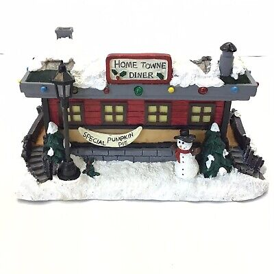 Home Towne Express Musical Diner JC Penney VTG 1999 Christmas Village Railroad
