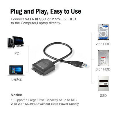 Professional USB 3.0 to SATA Converter Adapter Cable Wire for Hard Drive HDD SDD