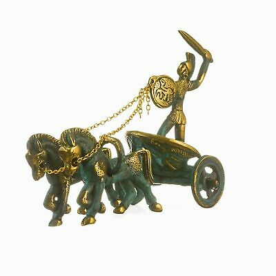 Ancient Greek  Achilles Chariot  Bronze Solid  4.3""