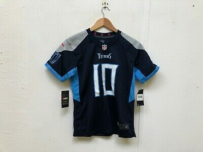 Nike Tennessee Titans Kid's Home Jersey - 10-12 Years - Jones 10 - Navy - NWD