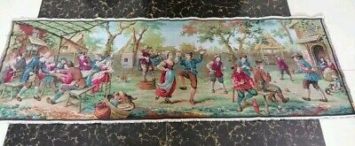 "Antique 19c Aubusson French Tapestry Beautiful Color real View 60""x20(cm152x52)"