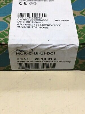 **NEW** Phoenix Contact 2810913 , MCR-C-UI-UI-DCI Signal Conditioner *SEALED*