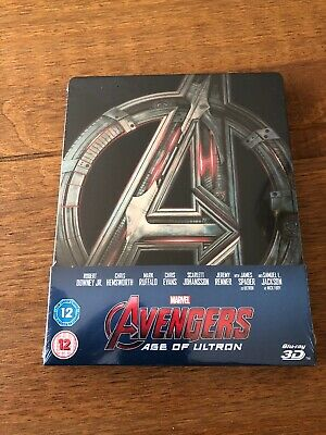 NEW Marvel Avengers Age Of Ultron Blu Ray 3D Steelbook Sealed