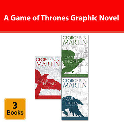 A Game of Thrones Graphic Novel Vol.1-3 books collection set George R.R. Martin