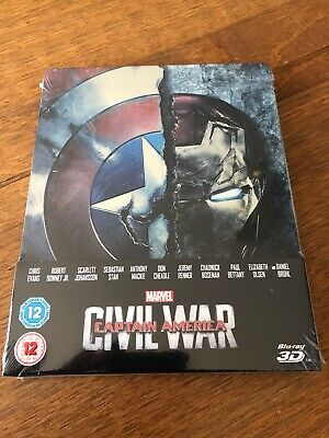 Marvel Captain America Civil War 3D Blu-Ray Steelbook New And Sealed