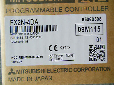 1PC Mitsubishi PLC FX2N-4DA New In Box FX2N4DA Expedited Shipping