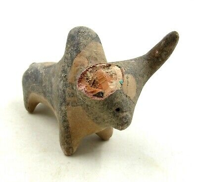 Authentic Ancient Indus Valley Terracotta Bull Idol Figurine - L766