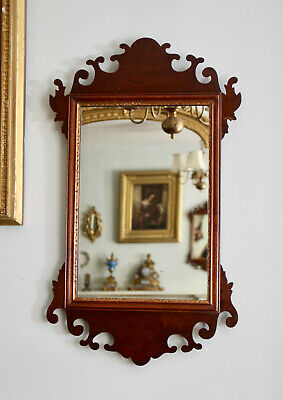 A Beautiful c19th Antique Fret Cut Mirror in Mahogany