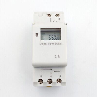 THC15A Timing Programmable Time Switch Relay Control Mount Digital Timer P9D4