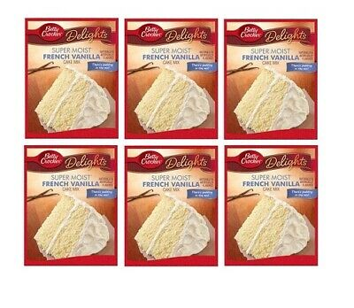 Betty Crocker Super Moist French Vanilla Cake Mix 6 Pack