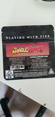 1x Jungle Boys Jungle Apple Mylar Bag (3.5g) Cali Tin