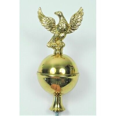 Long Case Clock Brass Ball & Eagle Finial Longcase Grandfather 115mm - CE1