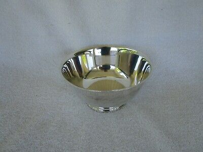 "Vintage Oneida Silversmith Paul Revere Reproduction Silver Plate Bowl 6""NICE~~~!"