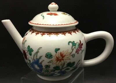 Chinese Victoria And Albert Museum Porcelain Tea Pot Franklin Mint~Small~Floral