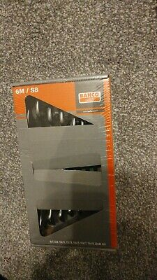 Bahco Open End Combination Spanner Set of 8 Metric 6M/S8 - 6mm to 22mm