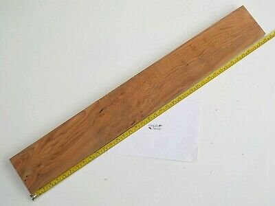 English Yew wood board. 132 x 960 x 27mm. Chopping, shelf, craft, woodwork. 3284
