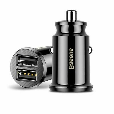 LED Mini Dual USB Smart Car Charger Adapter 3.1A For Mobile Phone Tablet GPS