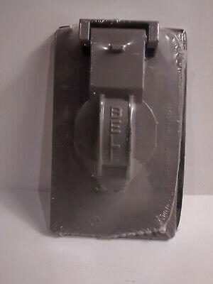 Bell Outdoor Vertical Single-Gang Outlet / Device Cover 5155-0 Wallplate